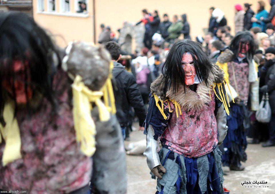 قرية جنوب مقدونيا يقام كرنفال