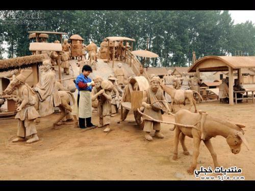 حديقه التماثيل الصلصاليه شنغهاي 2013