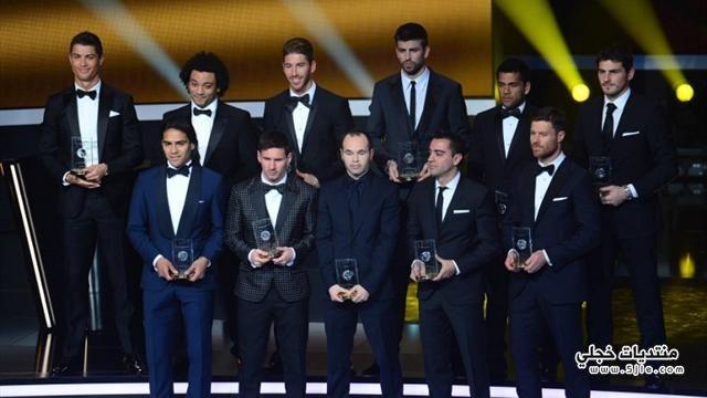 تشكيلة الفيفا لفريق 2012 تشكيلة