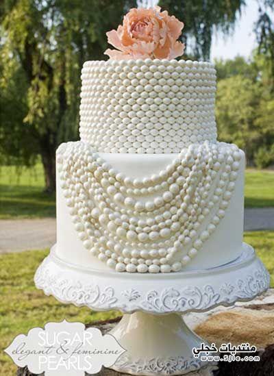 احدث اشكال كيكات الزفاف لعروس