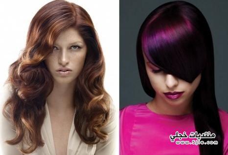 خصلات الشعر الملونة 2014 خصلات