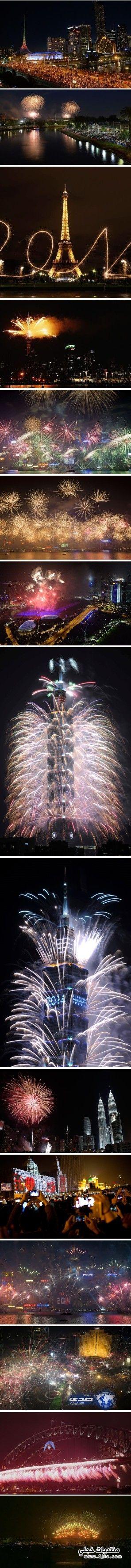 احتفالات العالم بالعام الجديد2014