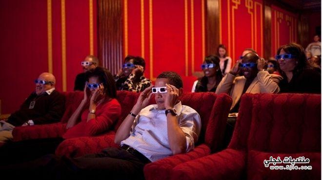 اوباما يستمتع بمشاهدة توزيع جوائز
