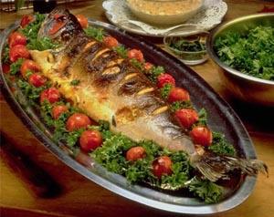 السمك المشوي طريقة السمكـ المشوي