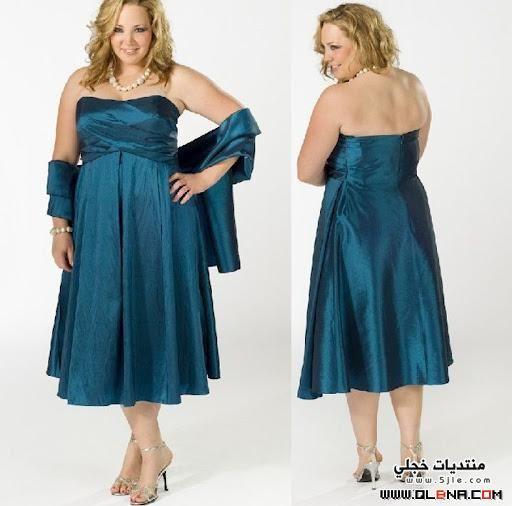 احلى فساتين سهرة للسمينات Dresses
