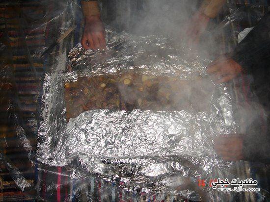 مدفونة اللحم بالقصدير طريقة مدفونة