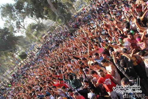 ساندي مهرجان الالوان بحديقة العروبة