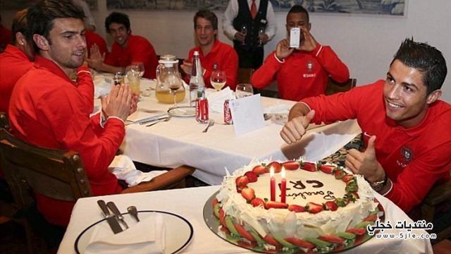 احتفال كريستيانو رونالدو بعيد ميلاده