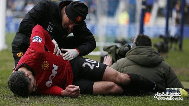 اصابة بيرسي مانشستر يونايتد جماهير