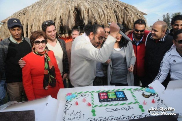 حورية فرغلي وحسن الرداد يحتفلان