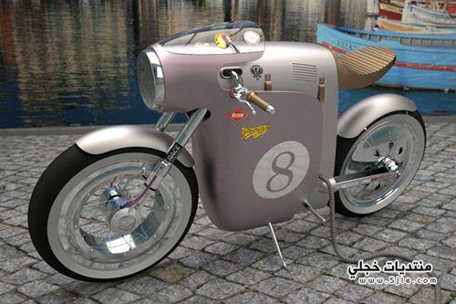 دراجة نارية مبتكرة تصميم فريق