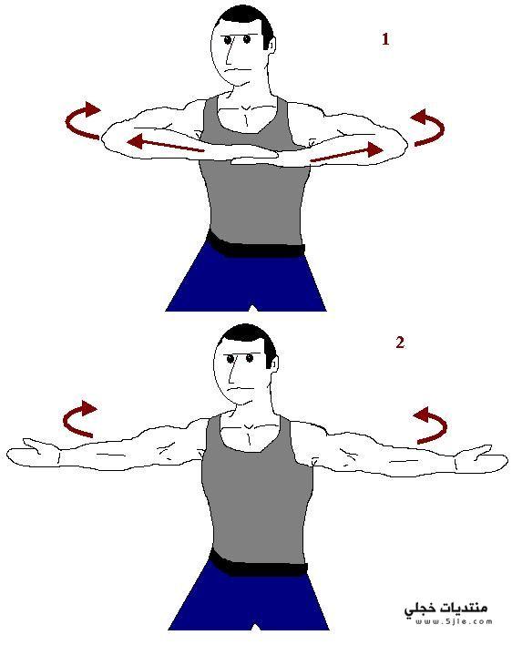 تمارين لتكبير عضلات الجسم بالصور,
