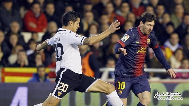 تعادل برشلونة وفالنسيا الدوري الاسباني