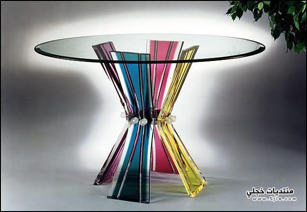 ديكور طاولات زجاجيه طاولات زجاجيه