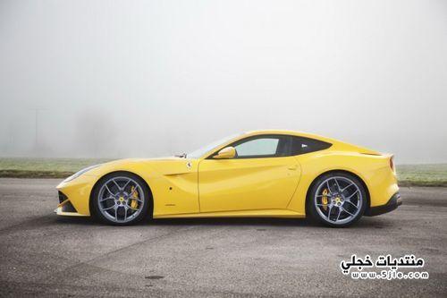 سيارة فيراري بلون الاصفر 2014