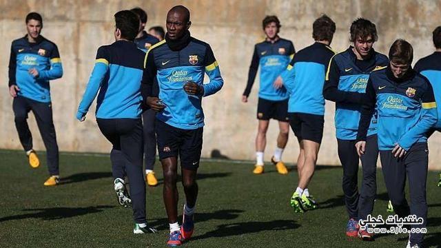 ابيدال يعود التدريبات برشلونة عودة