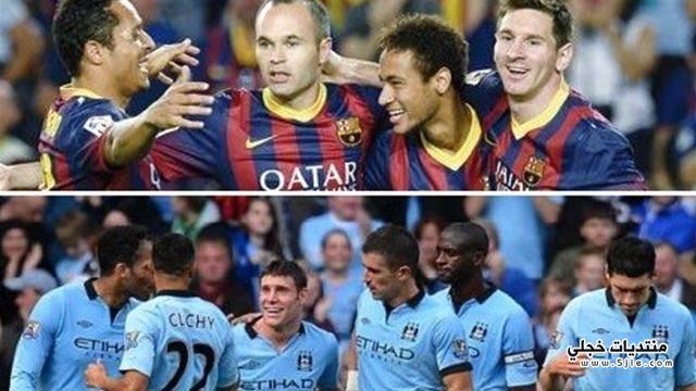 مباراة برشلونة ومانشستر سيتي 2014