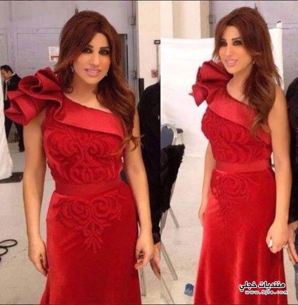 نجوى بفستان احمر 2014 فستان