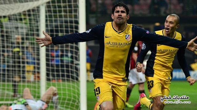 اتليتكو مدريد يفوز ميلان اتليتكو