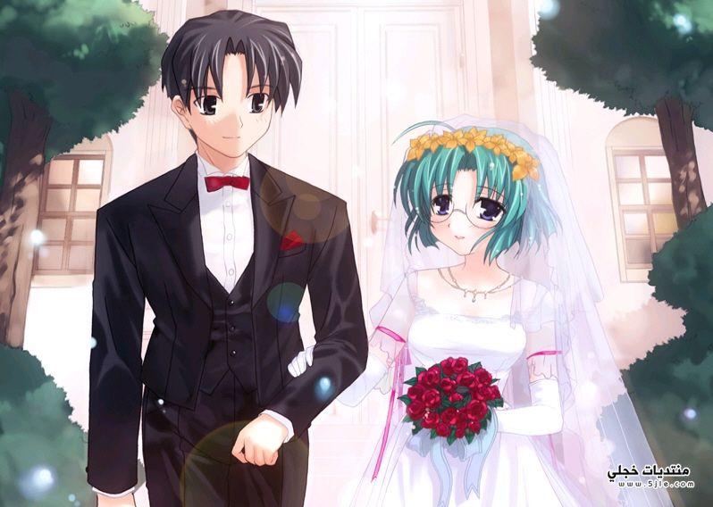 عرايس انمى عريس وعروسه عرسان