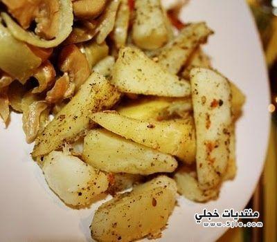 البطاطس الويدجز طريقة البطاطس الويدجز