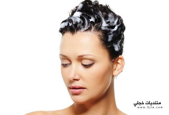 تغسلين شعرك بالطريقة الصحيحة طريقة