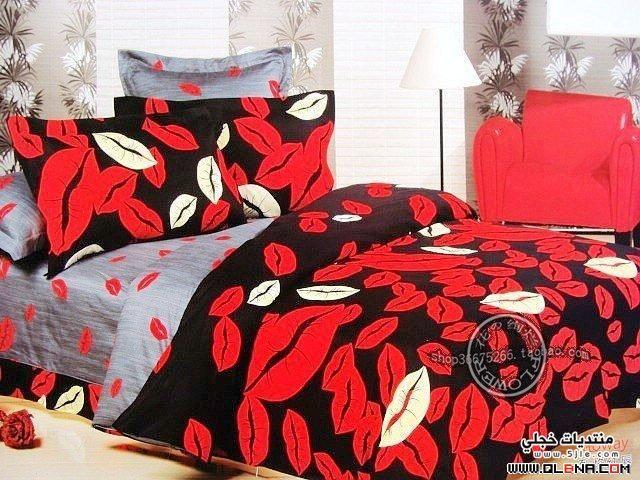 احلى مفارش سرير باللون الاحمر