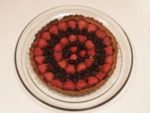 كعكة الفراولة والتوت 2014 طريقة