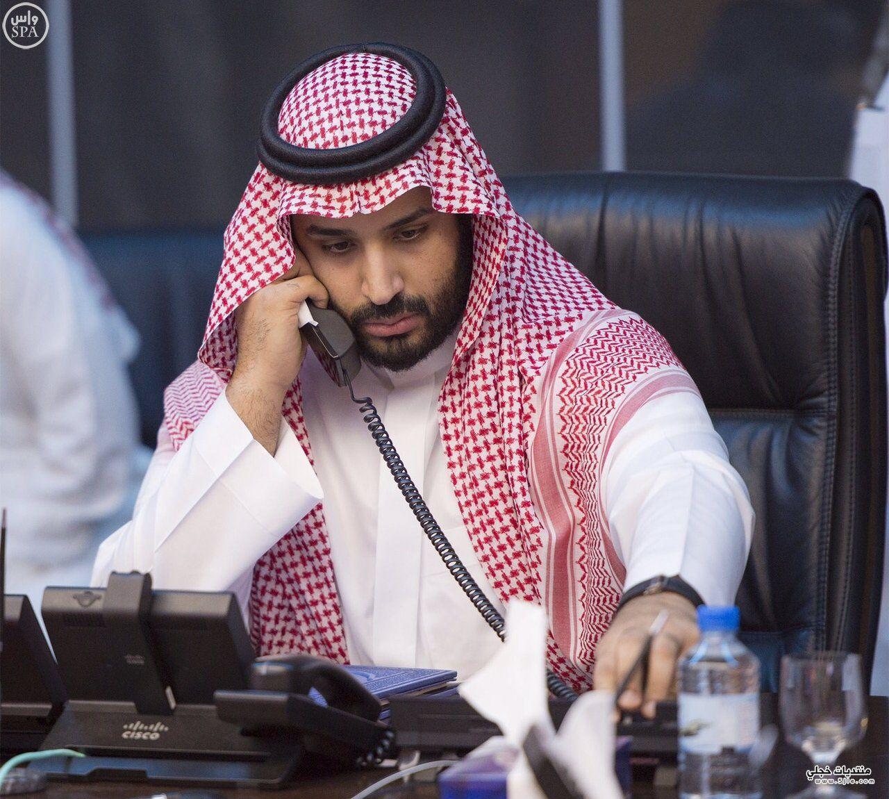 الامير محمد سلمان يشرف الضربة