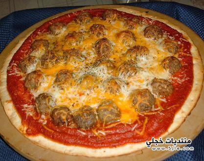 بيتزا بكرات الكفتة 2014 بيتزا