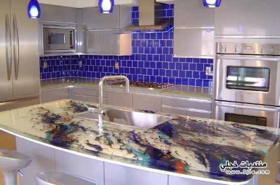 اشيك احواض زجاجية 2013 مطابخ