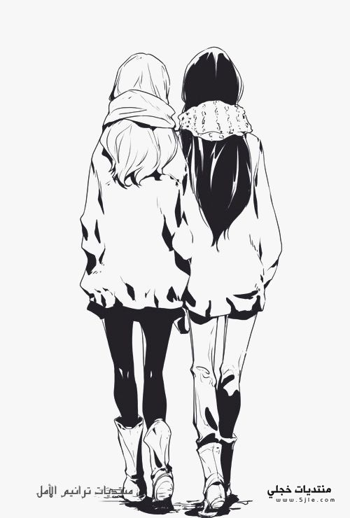 Anime Best Friend Drawings Tumblr Sketch Coloring Page