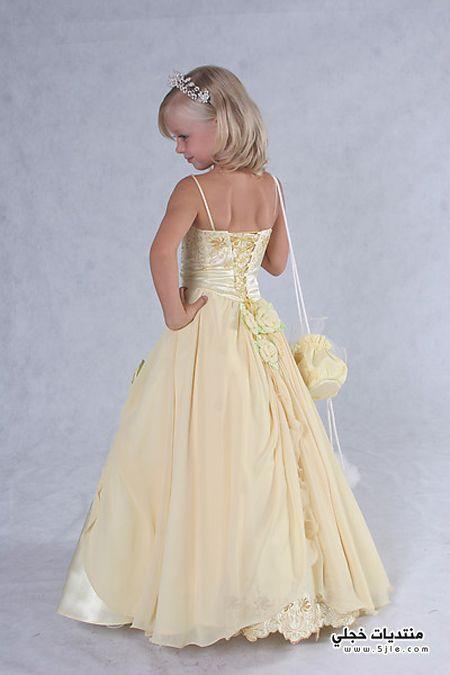 اشيك فساتين زفاف للاطفال 2013