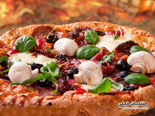 بيتزا المشروم طريقة تحضير بيتزا