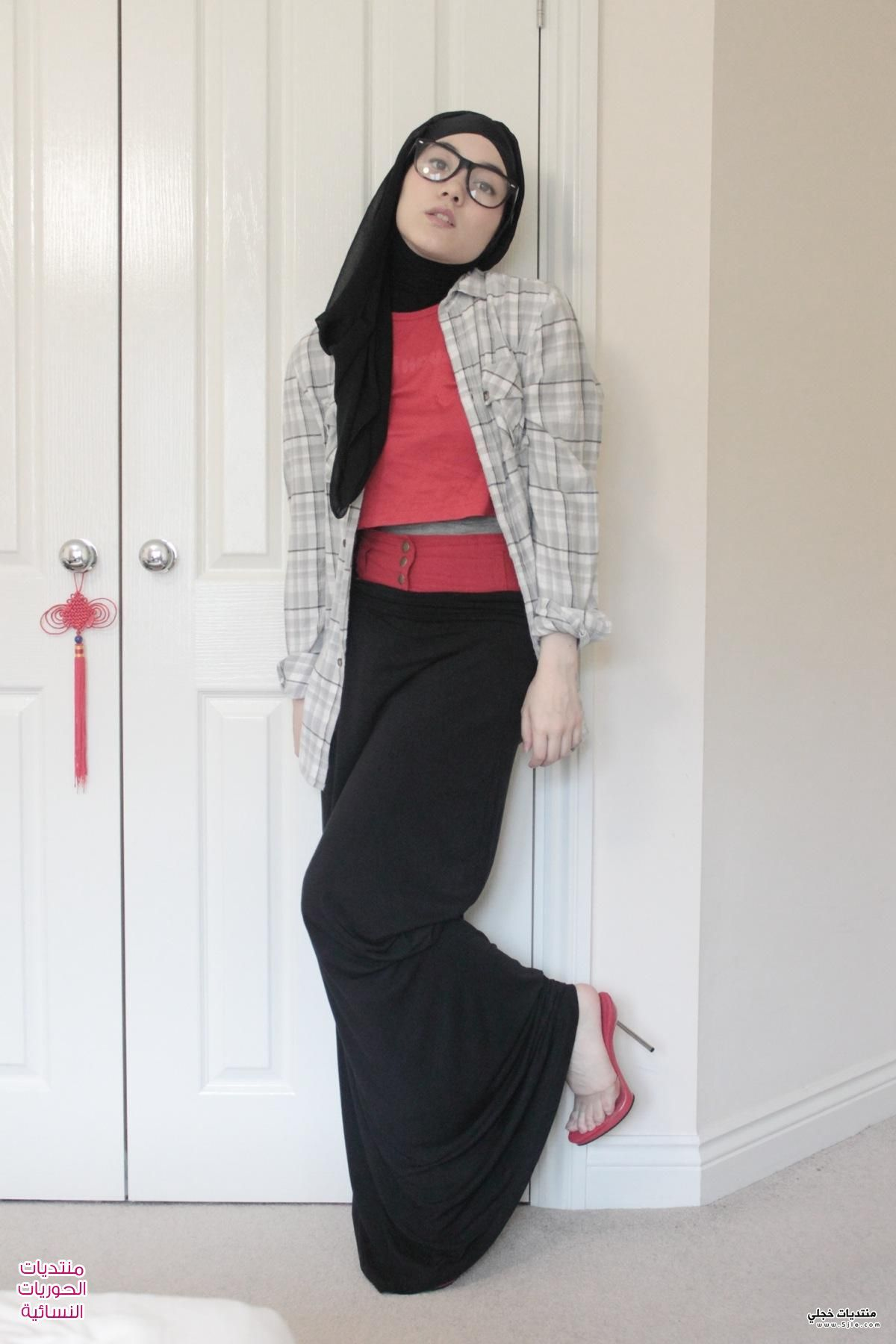 اناقة الحجاب بالصور 2014 موضه