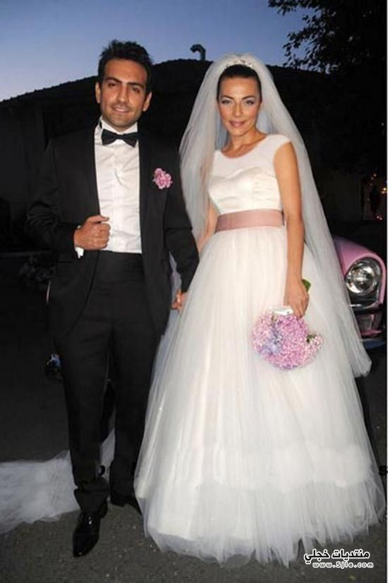 النجمات التركيات بفساتين الزفاف 2014