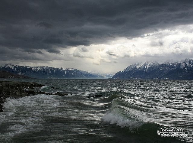 بحيرة ليمان2014 اجمل مناطر بحيرة
