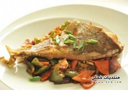 السمك المقلي الخضروات2014 كيفية السمك