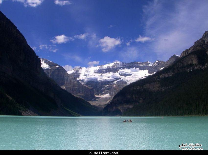 بحيرة لويز الكندية2013 احدث بحيرة