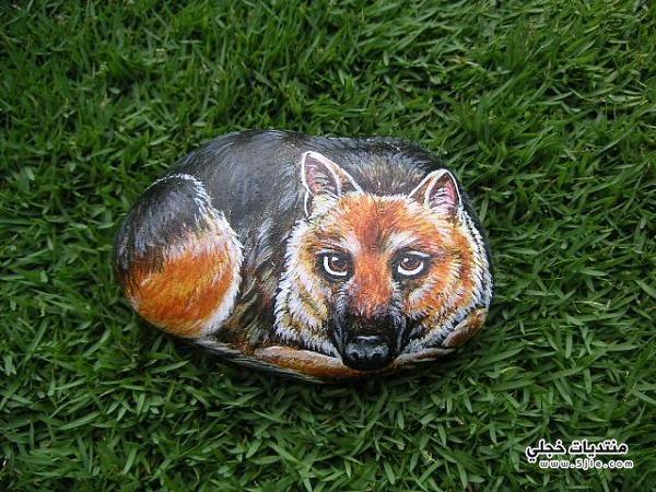 الرسم الصخور 2014 ابداع الفن