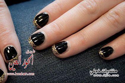 طلاء اظافر2014 موضة الطبعات القبلية