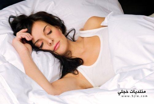 استغلال النوم لجمال البشرة 2013