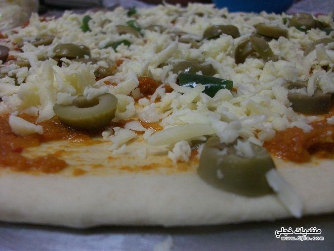 احدث طريقة سويسرول البيتزا 2015