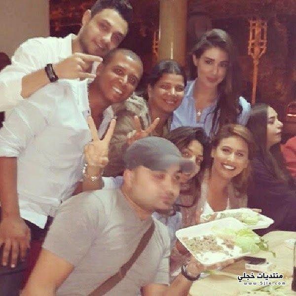 سليم تحتفل وفاء عامر بعيد