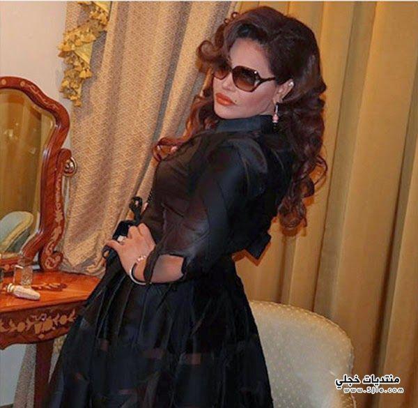 احلام بفستان اسود 2014 فساتين