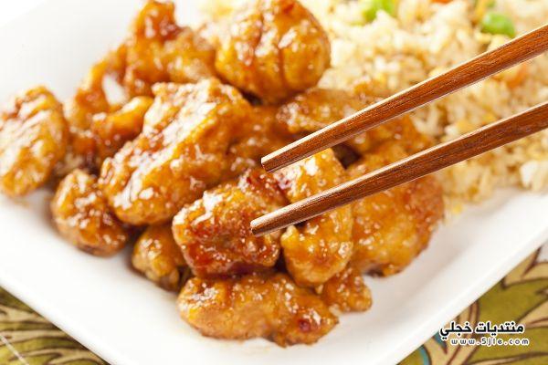 الدجاج الطريقة الصينية طريقة الدجاج