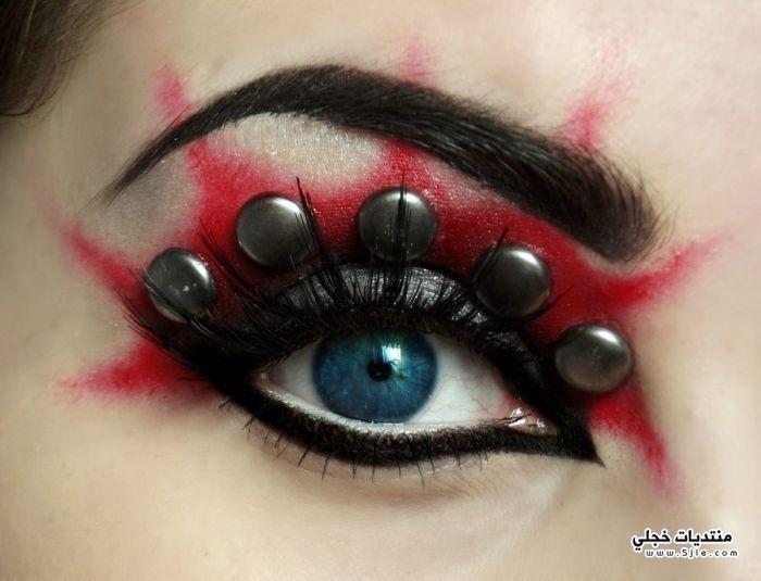 مكياج غريب للعيون 2014 عيون