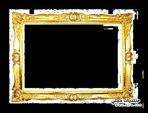 اطارات ذهبية بخلفية شفافة 2014