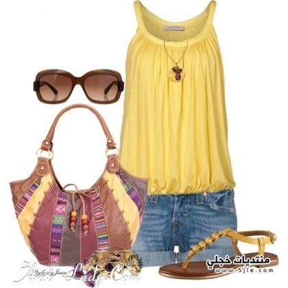 مجموعة ملابس كاجوال ملابس صيفى