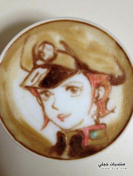 شخصيات كرتونية القهوة لوحات ملونة